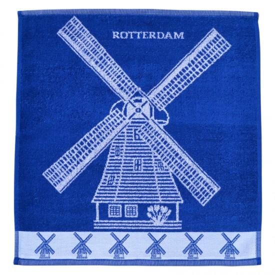 Kitchen towel rotterdam windmills blue white twentse damast