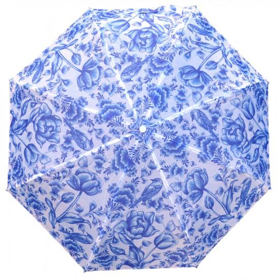 Umbrella delft blue floral decoration