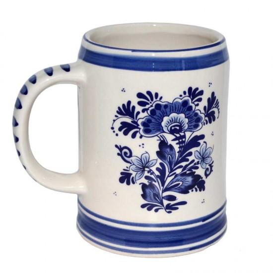 Bierpul delfts blauw molens bloemen