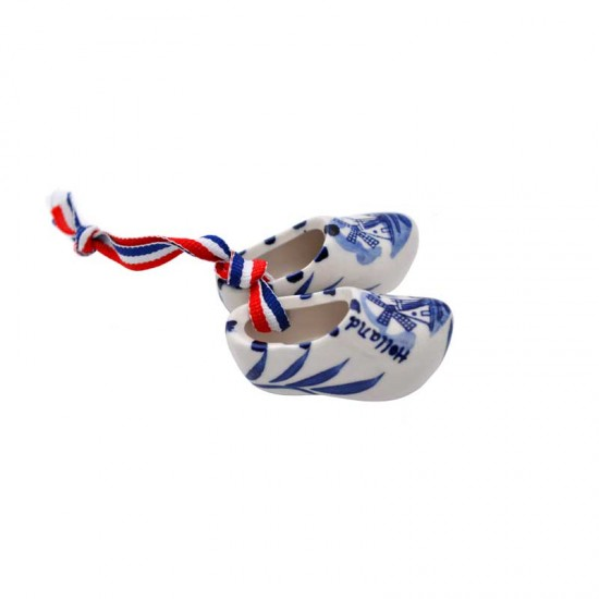 Holzschuhe delfter blau muhle holland flag band 6cm