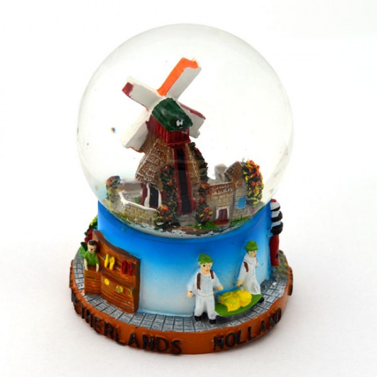 Snow globe holland windmill cow medium