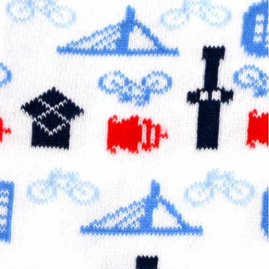 Sokken rotterdam iconen blauw