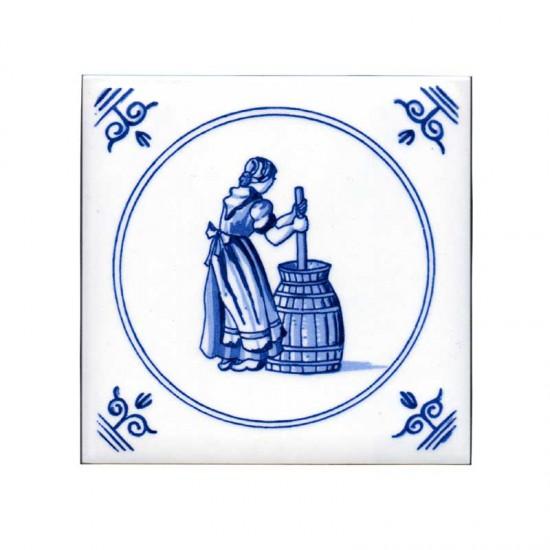 Tegel delfts blauw oud hollandse ambachten karnen 11cm