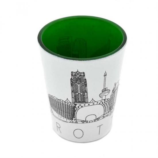 Cadeau set rotterdam borrelglaasje skyline
