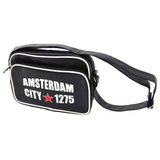 Crossbody tas schoudertas amsterdam 1275 zwart