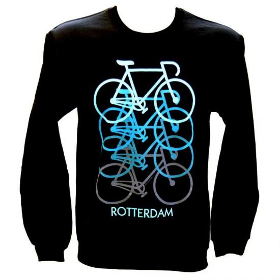 Sweater rotterdam fiets zwart