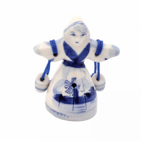 Figurine milk maiden delft blue small 5,5 cm