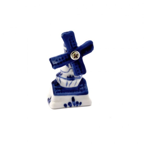 Mini windmuhle delfter blau 6cm