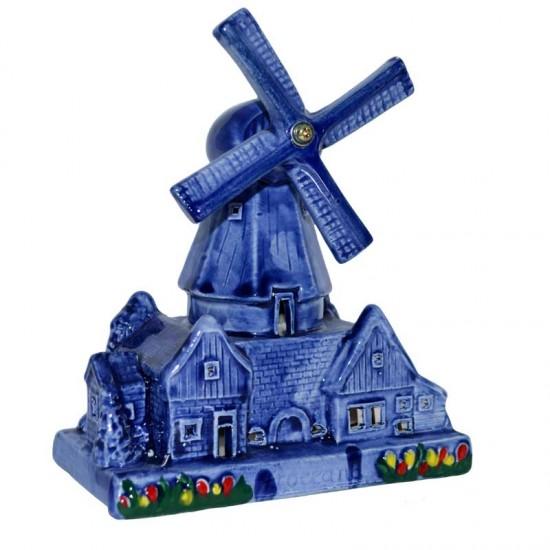 Tower windmill delft blue tulips tea light