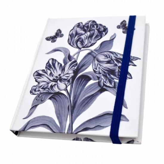 Notebook delft blue tulips butterflies