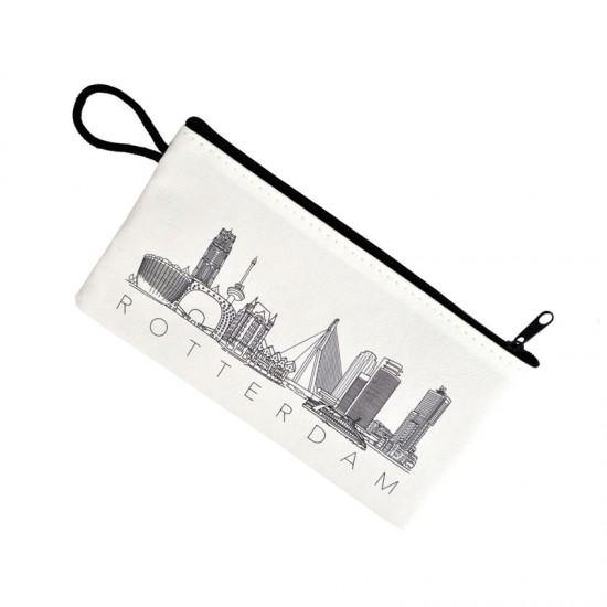 Pencil case rotterdam skyline drawing