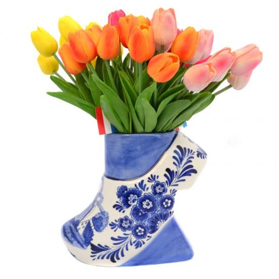 Vase delft blue clog large