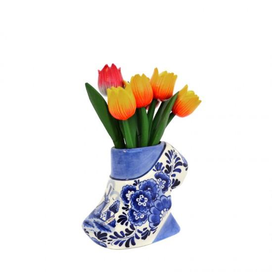 Vase delft blue clog small