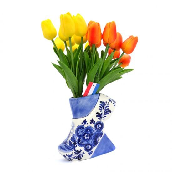Vase delft blue clog medium