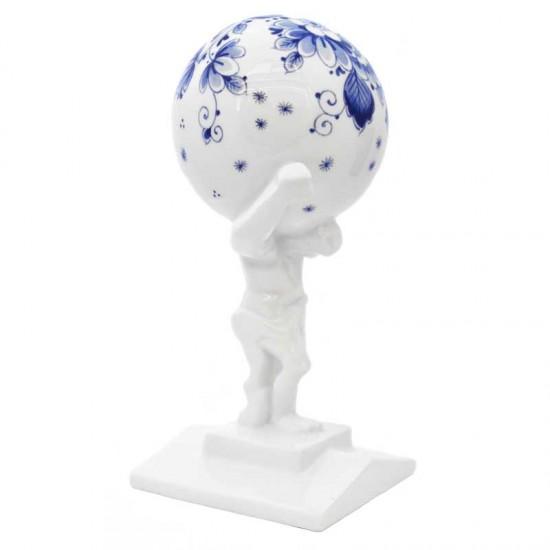 Statue atlas delft blue
