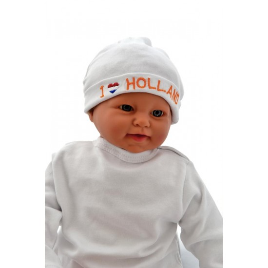 Baby mutsje I love Holland