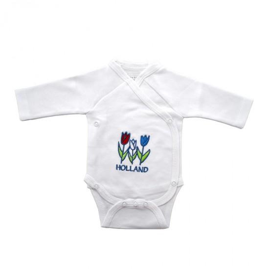 Baby romper tulpen Holland lange mouwen
