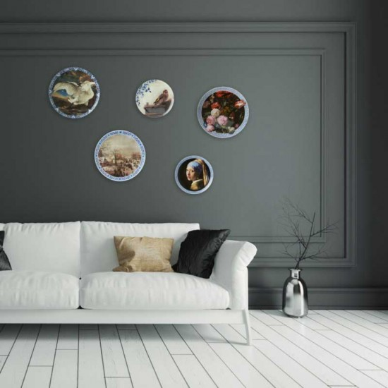 Wall plate girl with the pearl earring modern delft