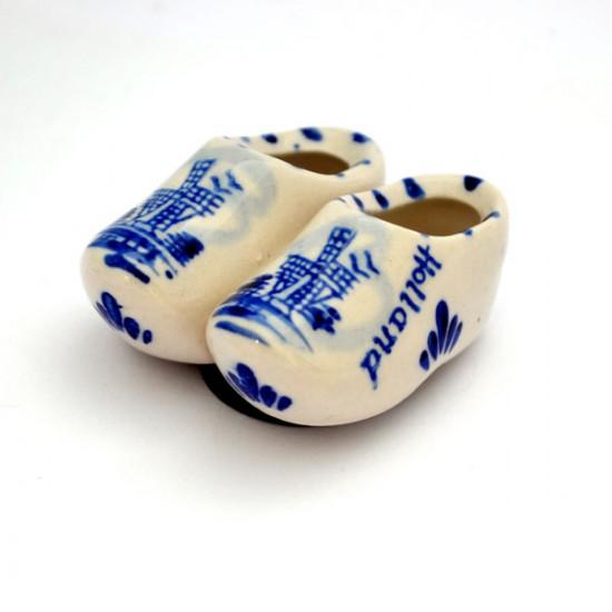 Fridge magnet delft blue cloggies 4,5 cm