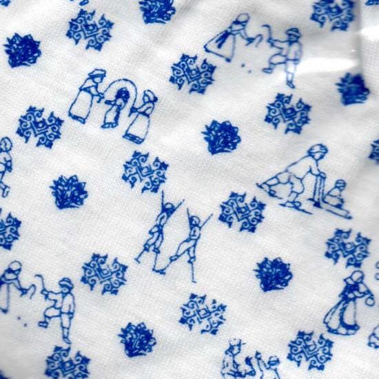 Delfts blauw baby setje driedelig