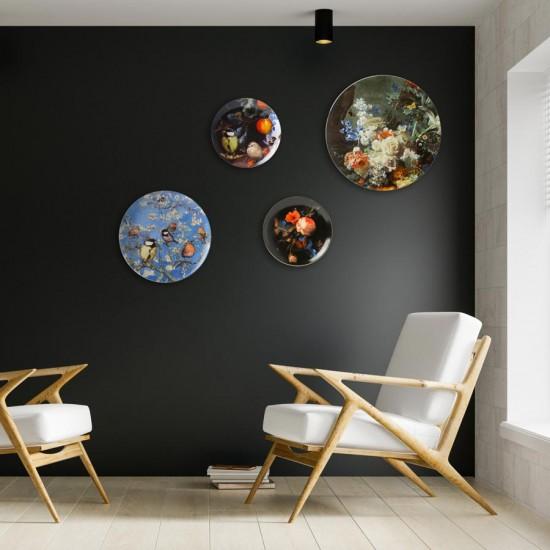 Delfts blauw Wandbord bloemenpracht XL