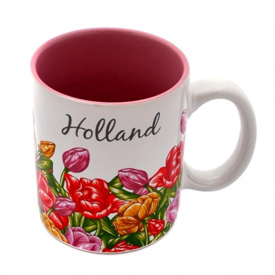 Mug holland tulips color 8 x 9 cm