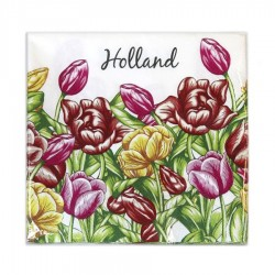 NAPKINS HOLLAND TULIPS 33 x 33 CM