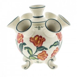 POLYCHROME TULIP VASE 7 ARMS TULIPS COLOR 17CM