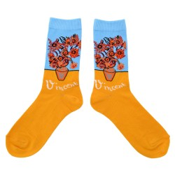 SOCKS VINCENT VAN GOGH SUNFLOWERS COLOR
