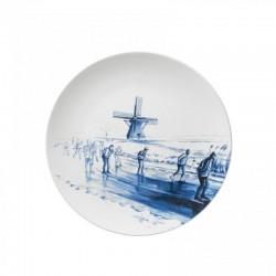 DELFT BLUE WALL PLATE VINTAGE ELFSTEDENTOCHT
