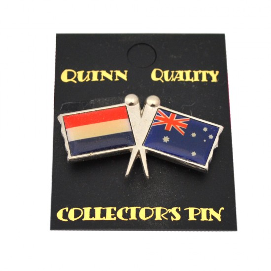 DUO COUNTRY FLAG PIN NETHERLANDS AUSTRALIA