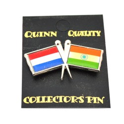 DUO COUNTRY FLAG PIN NETHERLANDS INDIA
