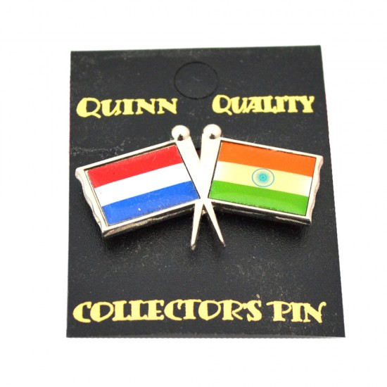 Duo landen vlaggen pin nederland india