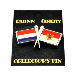 DUO COUNTRY FLAG PIN NETHERLANDS INDONESIA