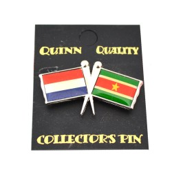 DUO COUNTRY FLAG PIN NETHERLANDS SURINAM
