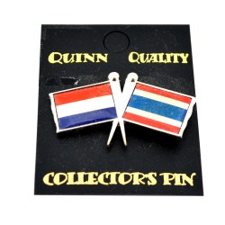 DUO COUNTRY FLAG PIN NETHERLANDS THAILAND