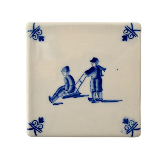 TILE PLAYING CHILDREN SLEDDING