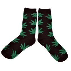 SOCKS WEED CANNABIS BLACK GREEN
