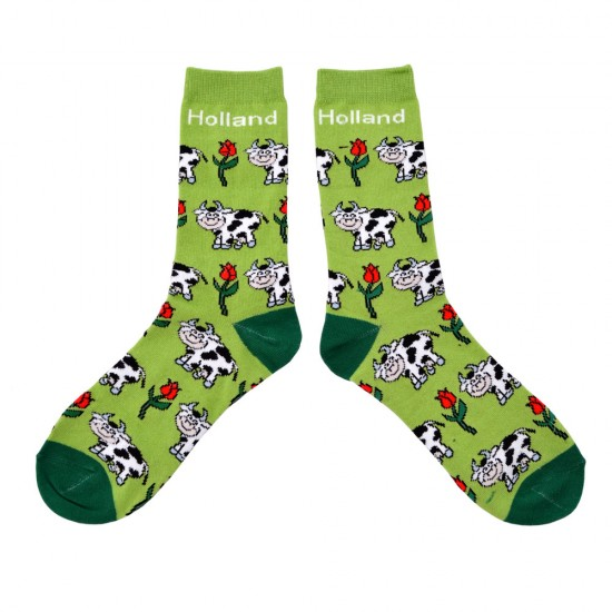 SOCKS GREEN COW TULIP HOLLAND