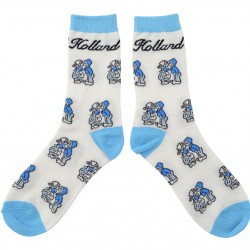 SOCKS DELFT BLUE KISSING COUPLE HOLLAND