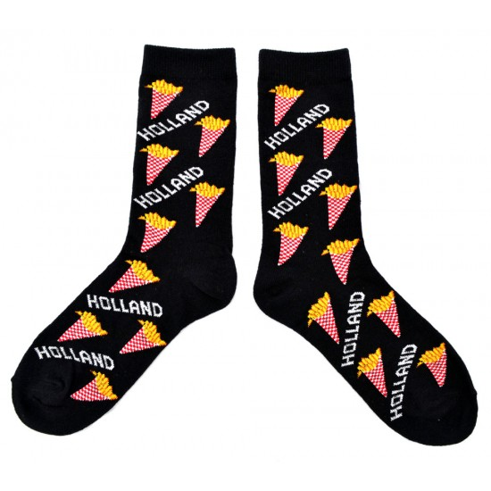 Socks holland potato chips black