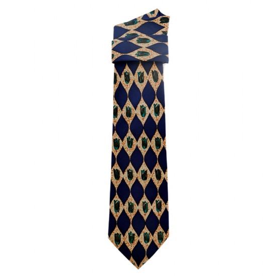 Stropdas zijden blauw vintage tulp turquoise