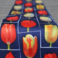 TIE SILK BLUE TULIPS MULTI WINDOW
