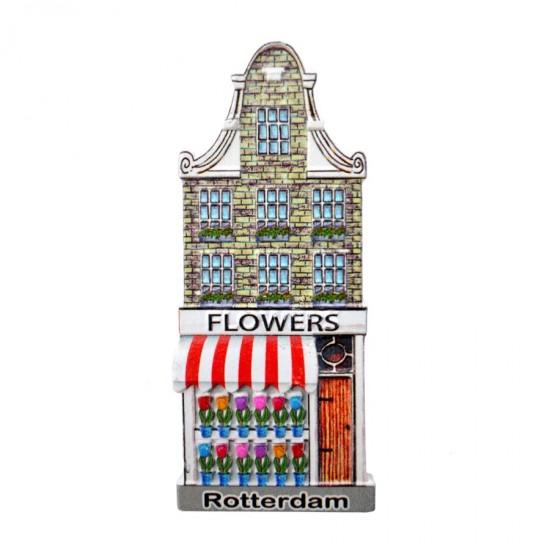 Koelkastmagneet Rotterdam bloemenwinkel