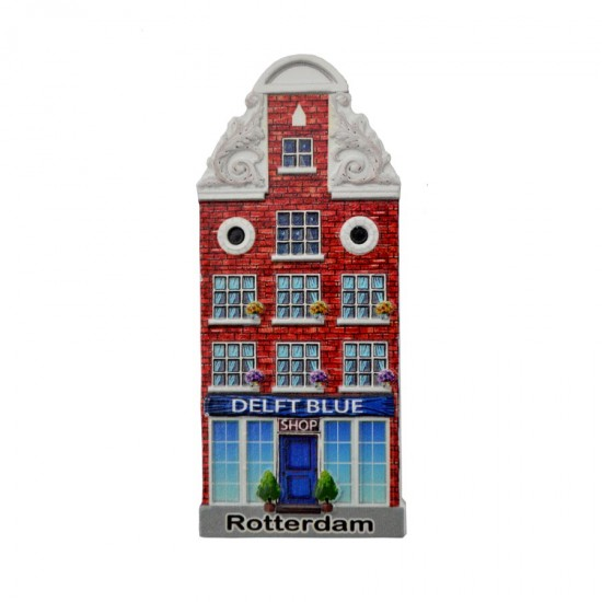 Koelkastmagneet Rotterdam Delfts blauw shop