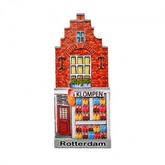 Magnet Rotterdam canal house wooden shoes