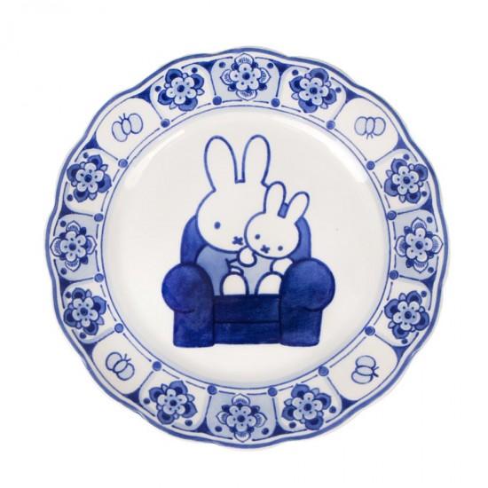 Wandteller Miffy Delfter blau
