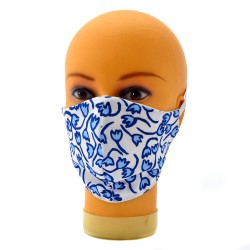 FACE MASK BLUE TULIPS JAQUES TANGE