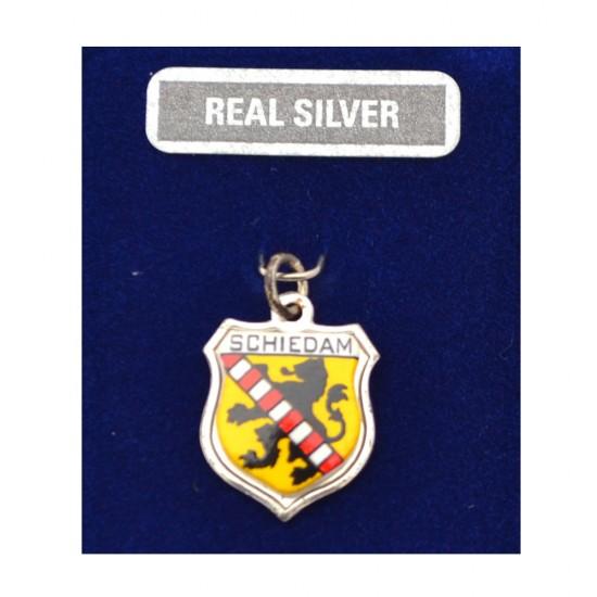 Silberner Charme mit dem Wappen von Schiedam