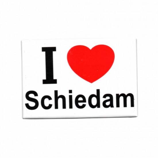 FRIDGE MAGNET I LOVE SCHIEDAM